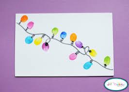 thumbprint christmas cards christmas lights decoration
