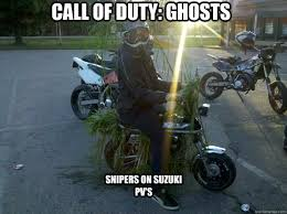 Call Of Duty Ghosts Meme - call of duty ghosts snipers on suzuki pv s cod ghosts quickmeme
