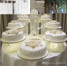 wedding cake stands cheap cake stand sliver iron chorme metal with the crysstal strands 11