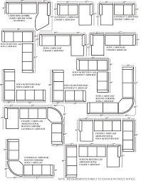 Furniture Sizes For Floor Plans Calvin Sofa And Sectional Sizes