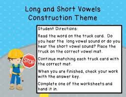 and short vowels construction theme