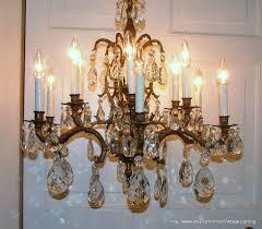 hanging ceiling lights vintage 108 glass crystal prisms brass chandelier lighting u2026 flickr
