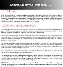 employee handbook templates free word document creative template