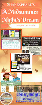 themes in literature in the 21st century shakespeare s a midsummer night s dream unit bundle shakespeare