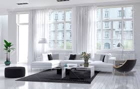 room interior modern spacious airy living room interior with white and black