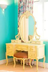 Blue Vanity Table Dressing Table With Its Own Tiny Little Sink The Thing Most Often