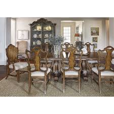 a r t furniture 237221 continental double pedestal dining table