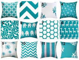 july 4th sale turquoise throw pillow by landofpillowsdotcom