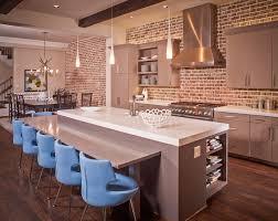 brick kitchen ideas exposed brick wall contemporary kitchen tamara mack design dma