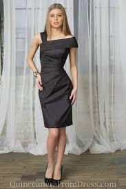 black dresses for a wedding guest taffeta straps sheath modest black formal dress for