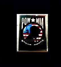 American Flag Backdrop Personalized Military Prisoner Of War Pow Mia Stained Glass