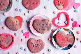 s day cookies marbled conversation heart sugar cookies with pop culture phrases