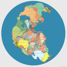World Map Actual Size by Map Of Pangea With Current International Borders Mental Floss
