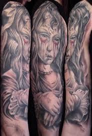 And Demons Sleeve Tattoos Creepy On Sleeves Images Tattoomagz