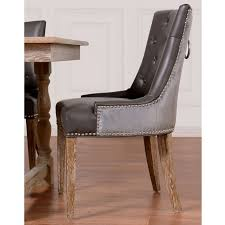 Beige Leather Dining Chairs Leather Nailhead Dining Chairs