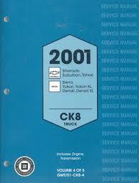 gm 2001 service manual ck8 truck chevrolet silverado tahoe