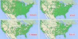 Verizon Coverage Maps Cellular Mapscom3g Coverage Comparison Att Sprint Tmobile