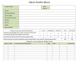 client profile form template index of wp contentuploads201310 free