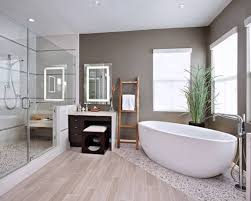 Free Bathroom Design Modern Bathroom Design With Marble Tub And Walk In Shower And