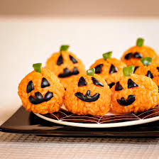 healthy halloween carrot rice ball jack o u0027 lantern bites recipe