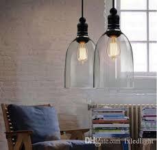 Diy Glass Pendant Light Retro Industrial Diy Ceiling L Light Glass Pendant Lighting