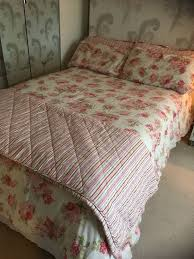 dunelm annabelle pink floral duvet cover set with matching