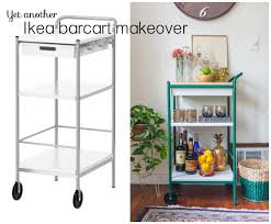 diy ikea bar cart with wood top white dog vintage