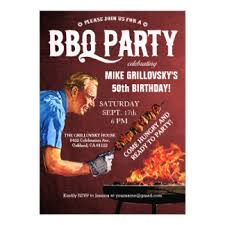 50th birthday bbq invitations u0026 announcements zazzle