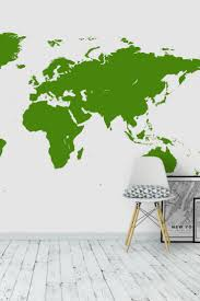 33 best map wall murals images on pinterest photo wallpaper green world map wall mural wallpaper