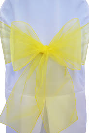 yellow chair sashes canary yellow organza chair sashes bows ties wholesale