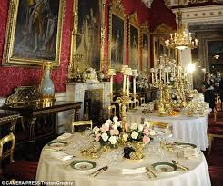Royal Dining Room by Ceiling Threatens To Fall In At Buckingham Palace State Dining
