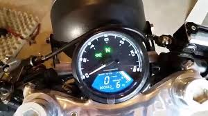 universal digital motorcycle speedometer youtube