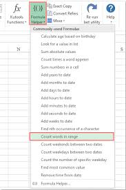 Count Words In Excel Quickly Count The Number Of Words In A Cell Or A Range In Excel