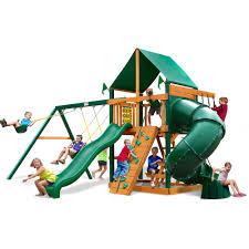 gorilla playsets sun palace ii cedar wooden swing set walmart com