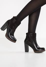 s heeled ankle boots uk s oliver label high heeled ankle boots black zalando co uk