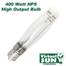 high pressure sodium light bulb virtual sun vs400hps 400 watt hps high pressure sodium grow light bulb