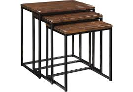 rooms to go accent tables zari brown nesting tables accent tables dark wood
