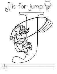 letter j is for jump worksheet coloring page bulk color