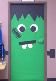 cool halloween door decorations 58 frankenstein door decoration ideas frankenstein door