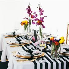 black white striped table runner 35cm x 275cm black and white striped table runner for wedding table