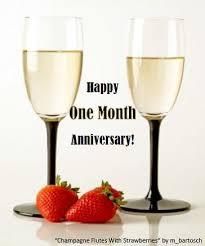 happy one month anniversary free milestones ecards greeting