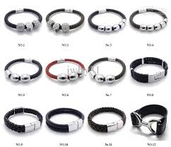 man wrist bracelet images New good quality jewelry mens cuff bangle stainless steel ball jpg