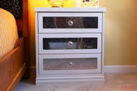 Mirrored Glass Nightstand Nightstands Retro Furniture Nightstand Mirrored Drawer Hayworth