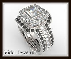 Black Diamond Wedding Ring Sets by Black And White Diamond Wedding Ring Set Vidar Jewelry Unique