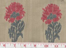 Drapery Fabric Characteristics Lucknow Rouge Bleu By Clarence House And Hill Brown