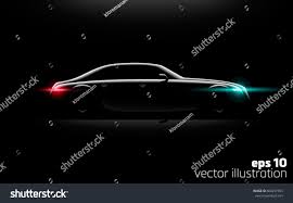 lamborghini aventador headlights in the dark realistic business luxury prestige car lit stock vector 604297355