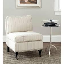 Armless Slipper Chair Safavieh Randy Off White Linen Slipper Chair Mcr4584d The Home Depot