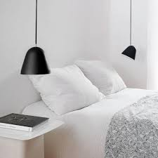 trends to try pendant lights over bedside tables at lumens com
