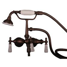 Oil Rubbed Bronze Clawfoot Tub Faucet Clawfoot Tub Filler U2013 Hand Held Shower Old Style Spigot U2013 Barclay