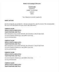 free chronological resume template chronological resume sles fungram co